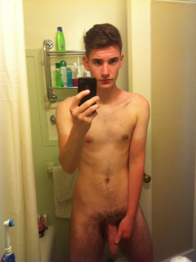 Slim Twink With A Fat Hairy Cock - Cock Picture Blog