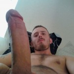 Webcam Man Showing His Hard Cock