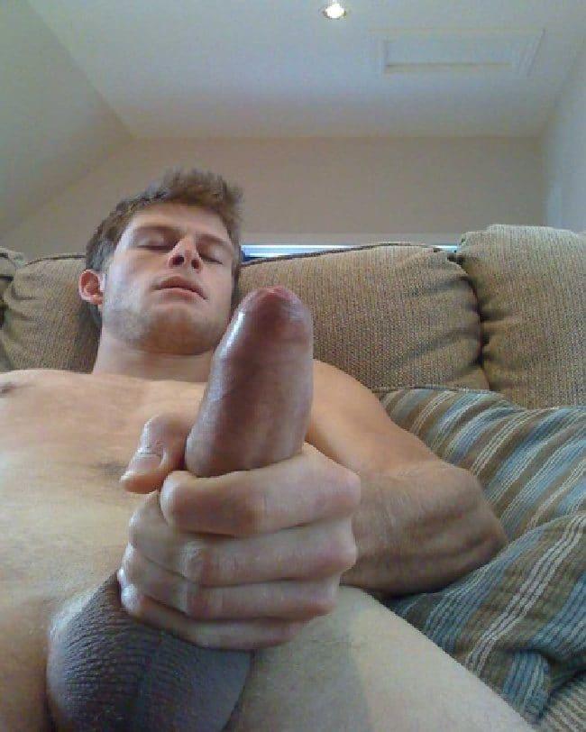 Nude Man Masturbating