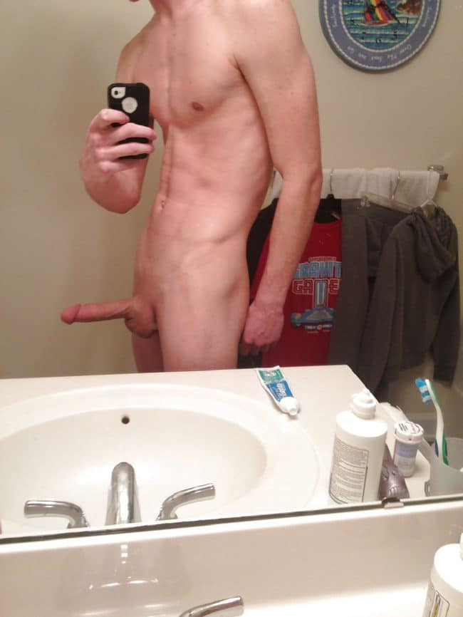 Nude Erected Man